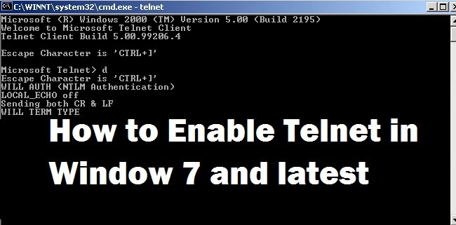 Enable Telnet