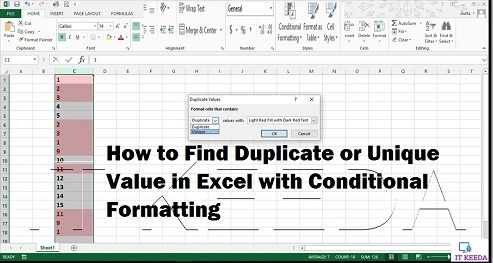How to Find Duplicate or Unique Value in Excel with Conditional Formatting