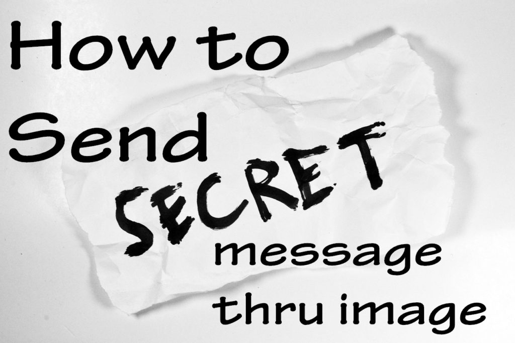 secret message in image
