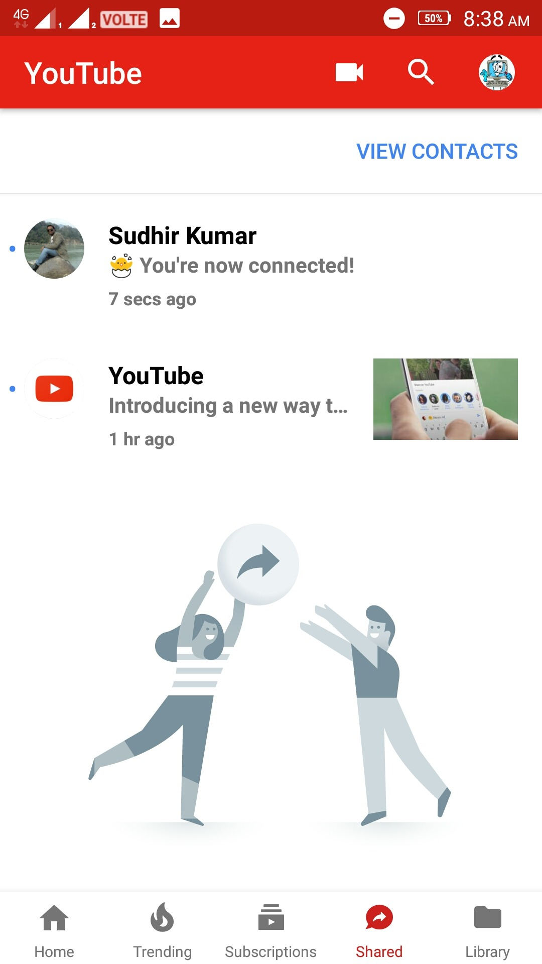 New Youtube features- Chat and video share to your friends 1