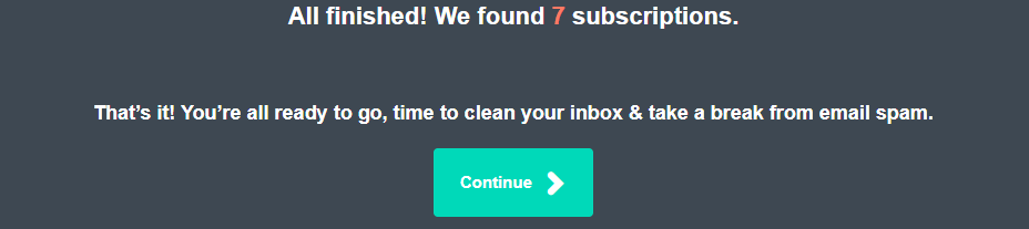 Unsubscribe all spam subscription notification mail