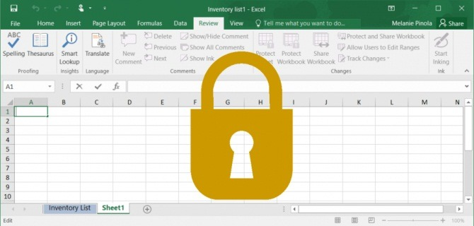 How to Protect excel file with password 1