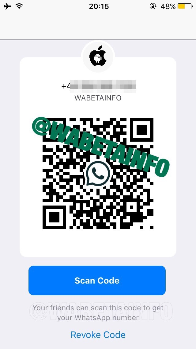 Whatsapp QR code contact