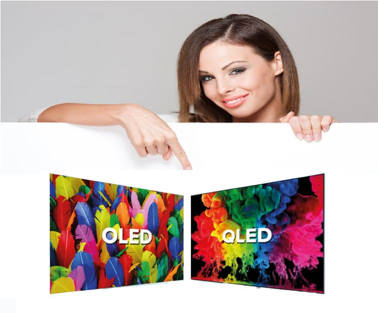 What is the difference between OLED and QLED TVs